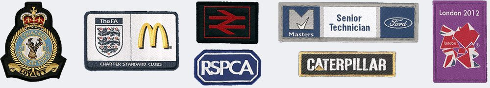 woven and embroidered badges