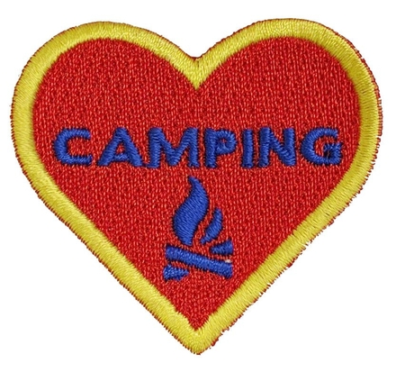 Camping - Heart shaped with Campfire