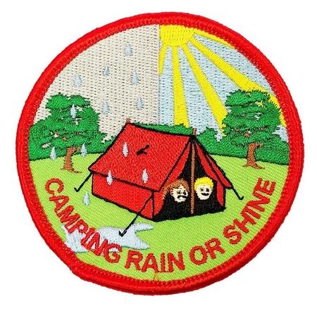 Camping rain or shine