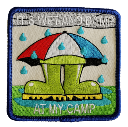 It's wet and damp at my camp